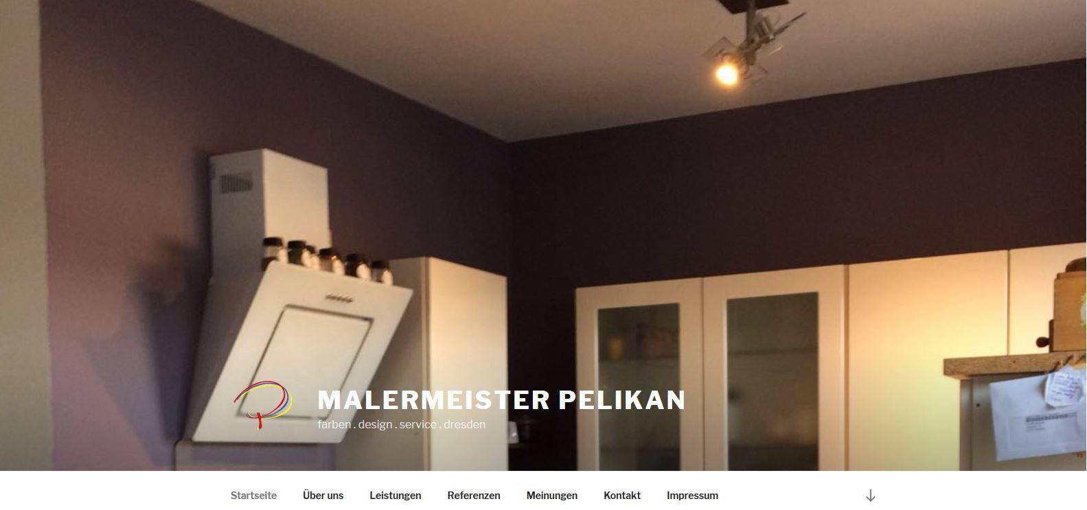 Der Malermeister Pelikan hat eine neue Homepage