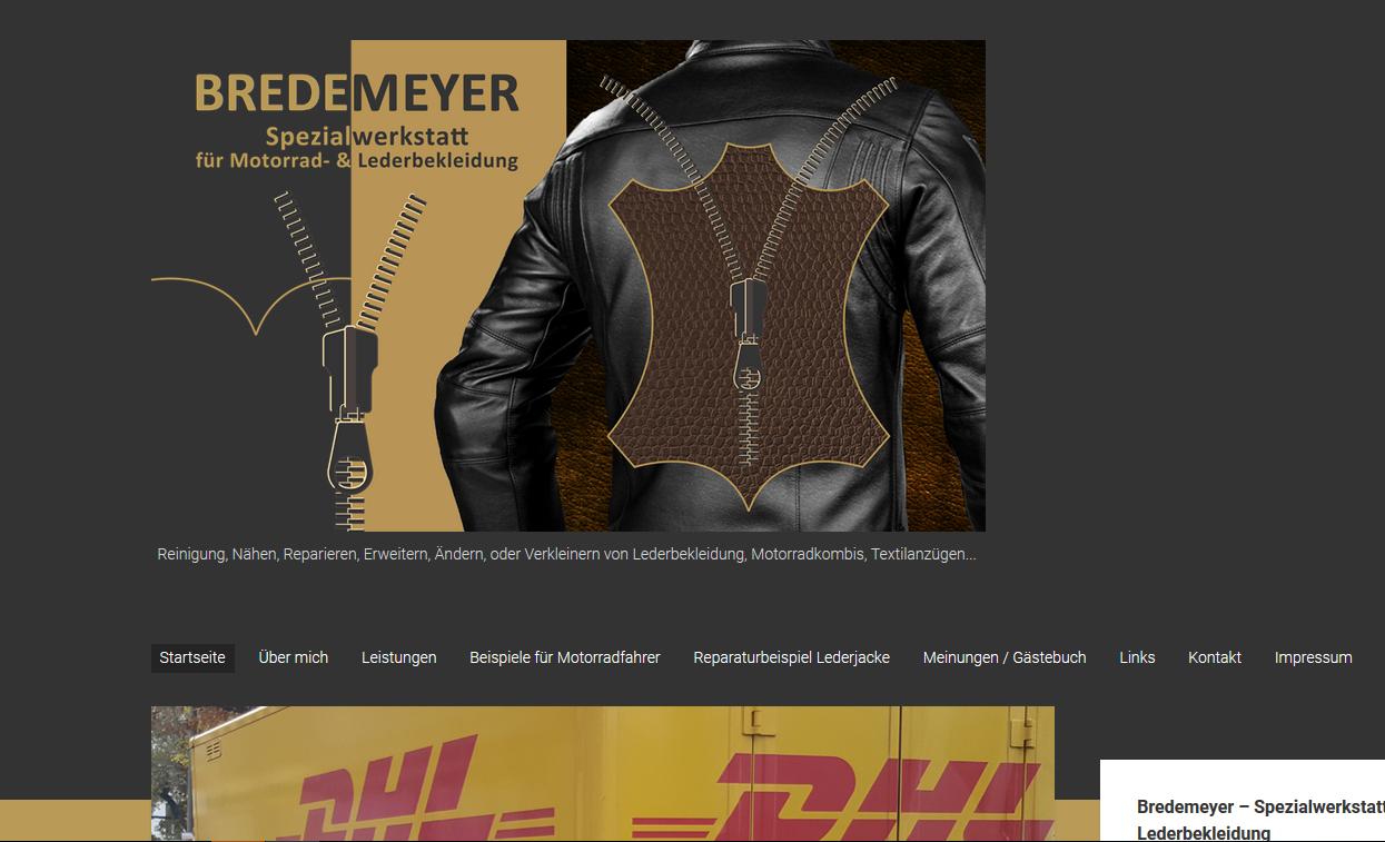 Bredemeyer – die Spezialwerkstatt für Motorrad- und Lederbekleidung bekommt eine neue Homepage