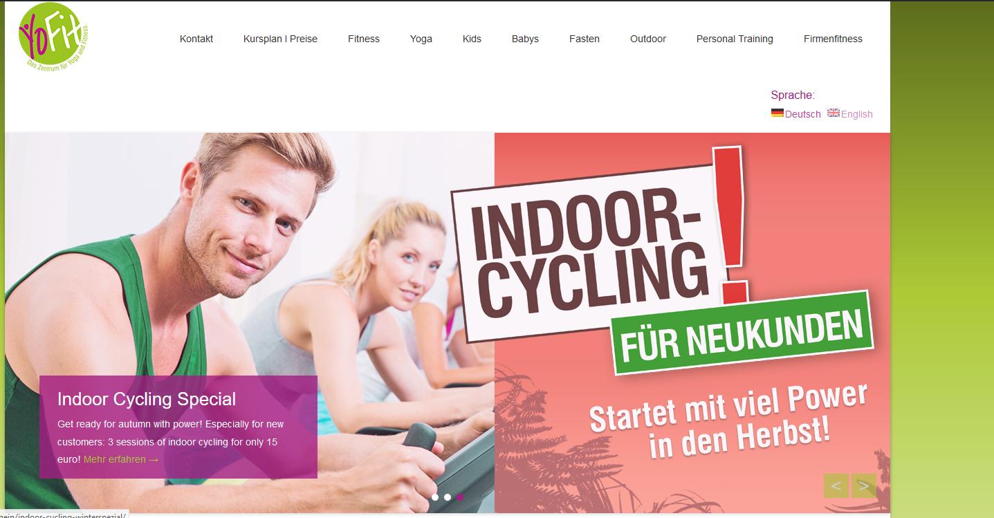 Die Homepage vom – Zentrum für Yoga und Fitness in Dresden – ist nun auch umgezogen