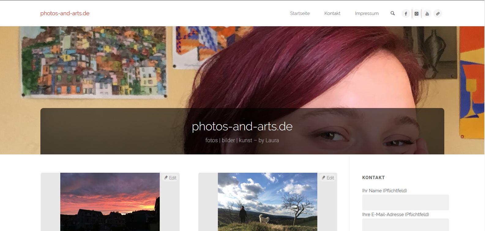 photos-and-arts.de – Lauras Seite ist fertig