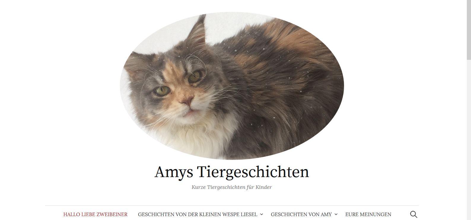 Tiergeschichten für Kinder – Amy hat eine eigene Website