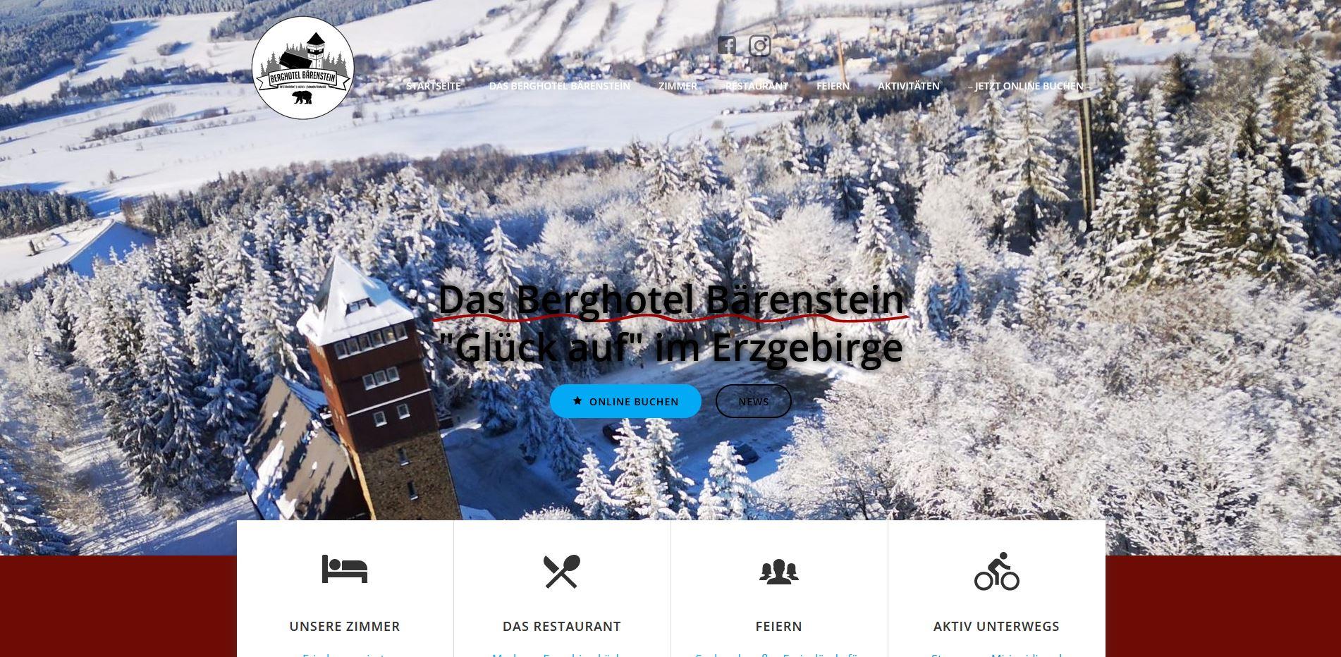 Das Berghotel Bärenstein im Erzgebirge…