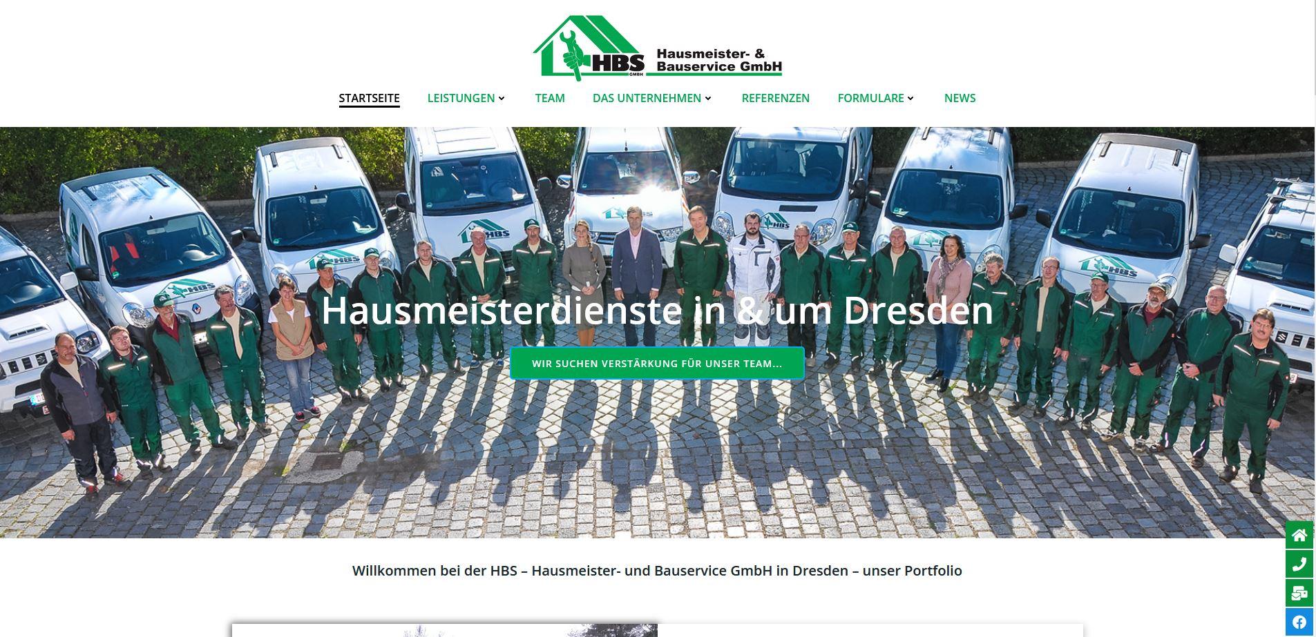 Die Homepage der HBS – Hausmeister- und Bauservice GmbH in Dresden ist nun auch neu!